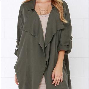 Brand new never worn Lulu's oversized jacket
